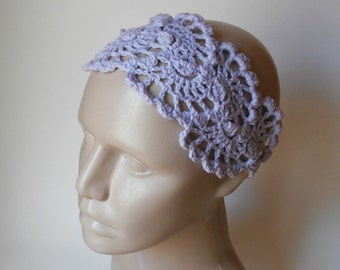 Crochet HairBand - HeadBand- Crochet Headband- Hair  Accessories - Crochet HairBand in Lavender