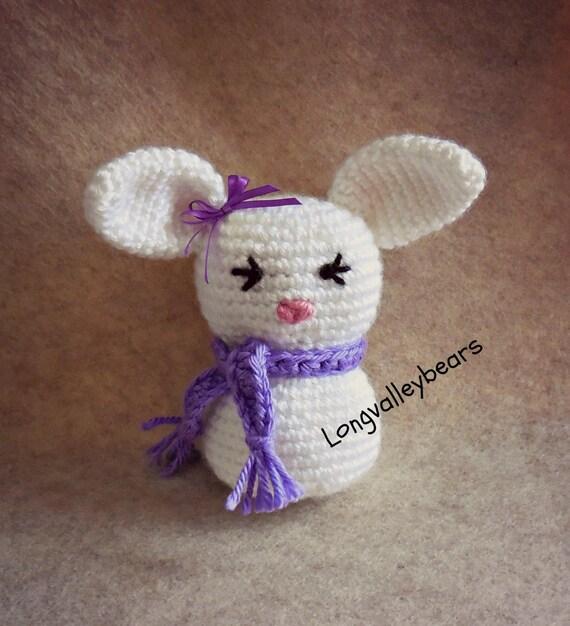 Hand crochet cute little amigurumi rabbit crochet rabbit