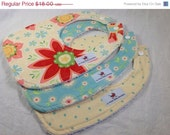 CLEARANCE Bibs - Set of 3, Ready to Ship - Riley Blake - Delighted