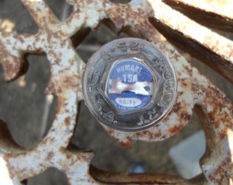 Vintage Glass Fuse Blue Inside Homart 15A Polygon Shaped 1950s to 1960s Royal Crystal Repurposing Steampunk Art Project