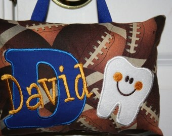 Personalized Tooth Fairy Pillow for Boys - football Boutique Custom Made
