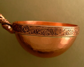 Copper Ladle Hand Forged from Recycled Metal