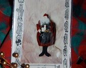 "St. Nick is a 10"" Hanging Snowman by Wee Wimsies  Pattern Has Been Traced onto Plastic Pattern Otherwise Still Has Factory Fold"