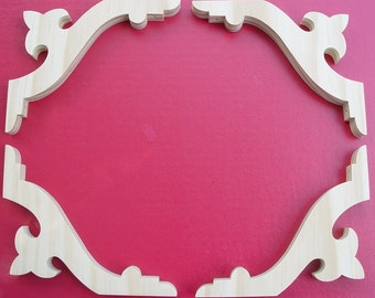 Four (4) Victorian Gingerbread Screen Door Brackets