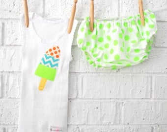 Neon Baby Boy Bloomers and Singlet/ Tank