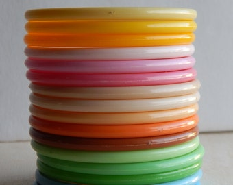 16 thin bangles in sherbet colors