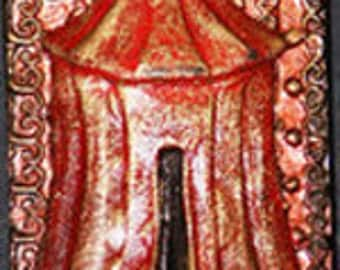 Red Tent: Small Narrative Sculpture