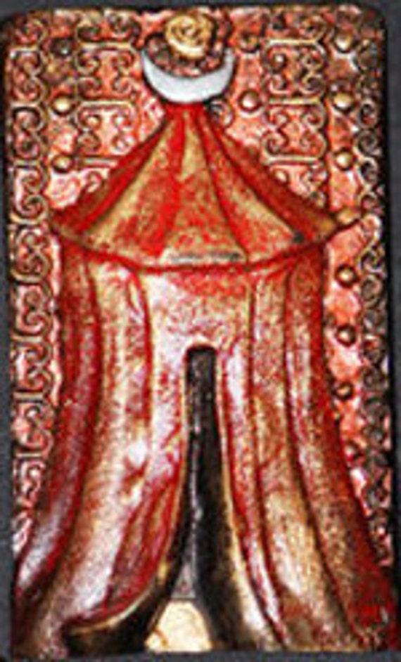 Red Tent: Small Narrative Sculpture