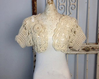 Ivory Princess Bolero Women or Teens Plus Sizes Cardigan Bolero Sweater weddings mother of the bride
