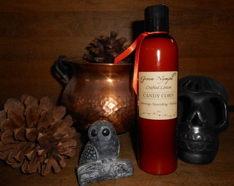 HALLOWEEN Lotion Collection by Green Nymph - 8 oz. Bottle - Choose your Scent - SPOOKY, Decadent, and FUN