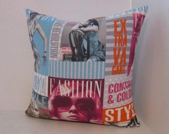 Retro Pillow Cover in Fashion Magazine