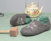 Tutorial Felt wool clogs pattern - instant download - pdf and video Woolen clogs lesson  - felted slippers tutorial
