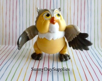 Vintage McDonald's Happy Meal Toys, Disney, Bambi Characters -  Friend Owl, Bambi Toys ~ 1988