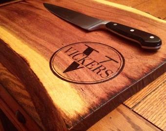 Restaurant logo cutting board