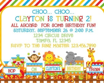 Circus Train Invitation