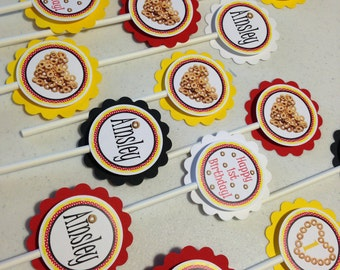 Cheerio Cupcake Toppers