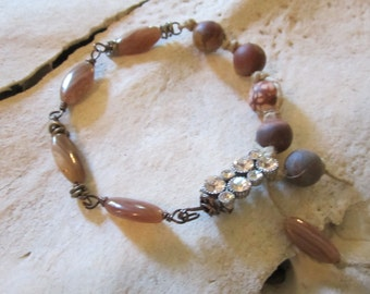 Boho Bracelet Boho Jewelry Wire Wrapped Bracelet Macrame Bracelet Beaded Bracelet
