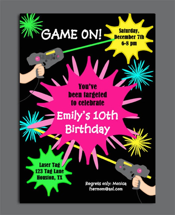Laser Tag Party Invitations Template Free as good invitation sample