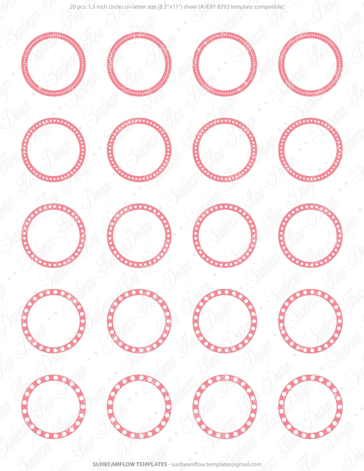 Avery 8293 Template Paper Label Sticker Templates Round Label