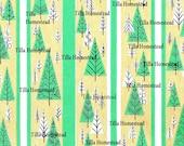 Vintage Gift Wrap PDF Digital Scan Download - Christmas Trees Vintage Gift Wrap Scan