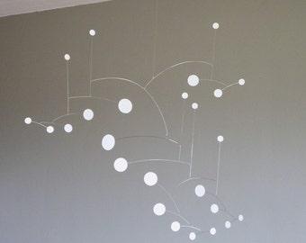 White Dots Metal Art Mobile