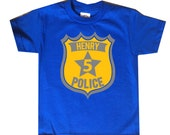 Police Badge Personalized Birthday Shirt - any age and name - pick your colors!