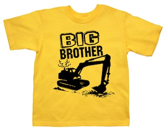 Big Brother digger excavator construction t-shirt - pick your colors!