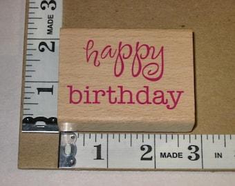 Rubber Stamp - All NIght Media - Happy Birthday