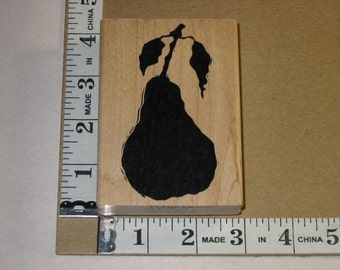 Rubber Stamp - Large Pear by A Stamp in the Hand