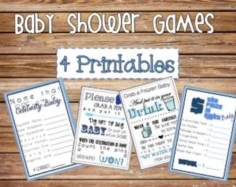 Baby Shower Games {Printable} Mega Bundle {4 Games!)