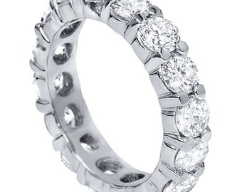 Diamond Eternity Ring, 4ct Diamond Wedding Ring Diamond Eternity Ring Wedding Band Womens Stackable Anniversary Band Round Brilliant Cut