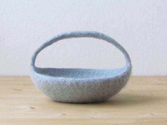 felted basket ring bearer wedding pillow by