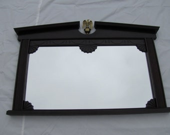Hand carved Traditional Mahogany Hall mirror