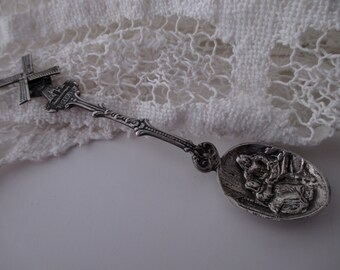 vintage 900 silver spoon - Holland, windmill, ornate, souvenir