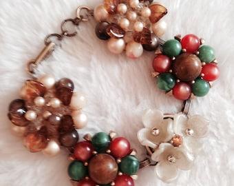 Vintage Clip-on Earring Bracelet-Autumn