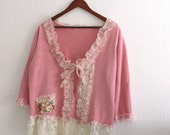 Romantic Bohemian Bolero Gypsy Mori Girls Sweater Jacket Eco Fashion Custom order