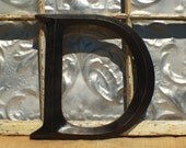 Large Letter/ Distressed Letter D/ Sign letter Black Wall Letter D/ Wedding Initial/ Nursery/ Kids Room Wall Letter Decor/ Mantle Decor