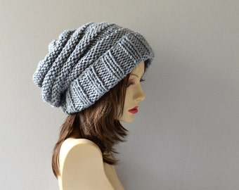 Slouchy Hat Womens Gift Knit Hat Slouch Beanie Hats Winter Hat Slouchy Beanie Gift For Her Slouch Hat Womens Hats