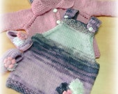 Baby dress -hand knitted dress- baby clothes - baby wear - colorful dress - winter dress- girls dress - girls clothes -pink dress -