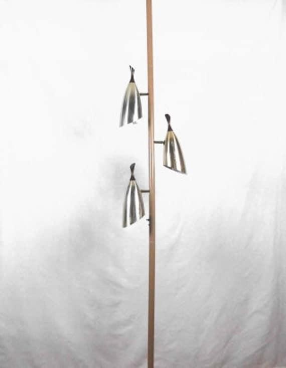 mid century modern tension pole lamp atomic by annaleesattic. Black Bedroom Furniture Sets. Home Design Ideas