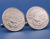US Virgin Islands 2009 Quarter 25c USA Coin - New Cufflinks