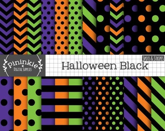 Halloween Digital Paper, Commercial Use, Printable Paper, Backgrounds, Instant Download