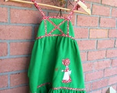 Cinderalla Green Folk Holly Hobbie Dress - size 5