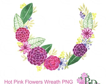 wreath clipart watercolor clip art digital clipart flower wreath ...
