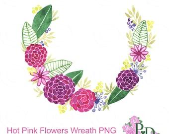 wreath clipart watercolor clip art digital clipart flower wreath ...