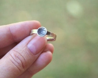 OKLAHOMA Hand Stamped Sterling Silver Oxidized Comfort Fit Band Ring US Custom In Your Size Thunder Cowboy Sooner Jewelry