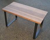 Desk - Solid Black Walnut - Bold Steel Legs