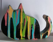 Organic Cat Sculpture Shelf Sitter