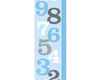 Personalized Counting Numbers Growth Chart - 1 to 10 - Boy