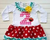 Girls Custom Dress Girls Birthday Dress Elmo Dress Girls Clothing Girls Kids Toddlers Chevron Dress Available 0-3 months through Size 6/8